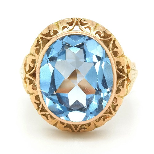 Solitaire Gemstone Gold Ring