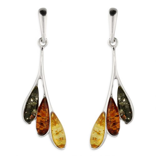 Amber Sterling Silver Earring
